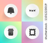 modern  simple vector icon set... | Shutterstock .eps vector #1101223019