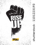 rise up. fight for your right... | Shutterstock .eps vector #1101223193