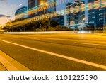 the light trails on the modern...   Shutterstock . vector #1101225590