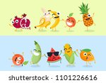 funny fruit and vegetables  ... | Shutterstock . vector #1101226616