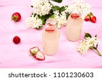 kombucha tea with elderflower... | Shutterstock . vector #1101230603