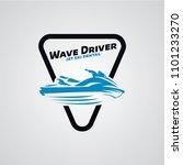 jet ski logo designs template | Shutterstock .eps vector #1101233270