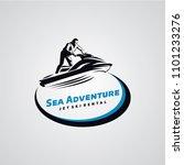 jet ski logo designs template | Shutterstock .eps vector #1101233276