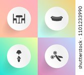 modern  simple vector icon set... | Shutterstock .eps vector #1101233990