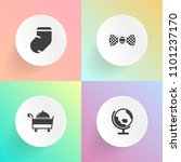 modern  simple vector icon set... | Shutterstock .eps vector #1101237170
