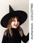 smiling little blond european... | Shutterstock . vector #1101237980