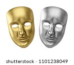 golden and silver theatrical... | Shutterstock . vector #1101238049