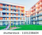 complex of modern apartment... | Shutterstock . vector #1101238604