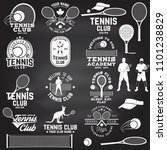 set of tennis club badges with... | Shutterstock .eps vector #1101238829