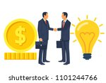 two businessmen on the deal... | Shutterstock .eps vector #1101244766
