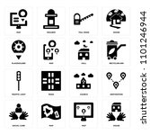 set of 16 icons such as house ...