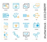 set of 16 icons such as user ... | Shutterstock .eps vector #1101248099