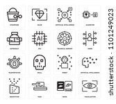 set of 16 icons such as... | Shutterstock .eps vector #1101249023