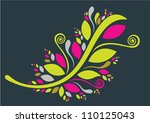 design elements with beautiful... | Shutterstock .eps vector #110125043