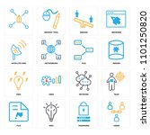 set of 16 icons such as users ... | Shutterstock .eps vector #1101250820