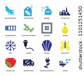 set of 16 icons such as exhaust ...