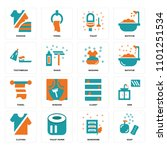 set of 16 icons such as soap ...
