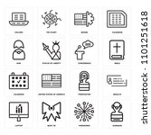 set of 16 icons such as surgeon ...