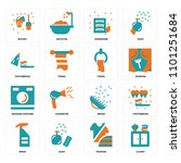 set of 16 icons such as closet  ...