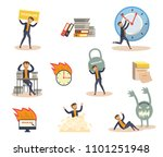 exhausted businessman and...   Shutterstock .eps vector #1101251948