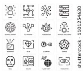 set of 16 icons such as... | Shutterstock . vector #1101254630