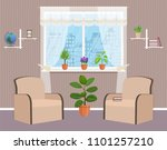 living room interior design... | Shutterstock .eps vector #1101257210