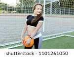 portrait of a young woman with... | Shutterstock . vector #1101261050