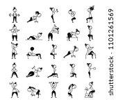 girls doing sport exercises ...   Shutterstock .eps vector #1101261569