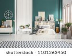 spacious studio apartment... | Shutterstock . vector #1101263450