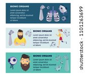 futuristic bionic prosthesis... | Shutterstock .eps vector #1101263699