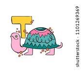 english letter t. turtle.... | Shutterstock .eps vector #1101269369