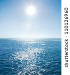 blue sky sun and sea. | Shutterstock . vector #110126960