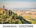 church and village of... | Shutterstock . vector #1101270488