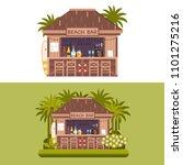 exotic beach bar. summer...   Shutterstock .eps vector #1101275216