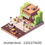 vector isometric coffee shop or ... | Shutterstock .eps vector #1101275630
