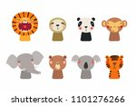 set of cute funny little... | Shutterstock .eps vector #1101276266