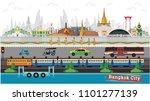 bangkok in thailand and... | Shutterstock .eps vector #1101277139