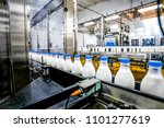 milk production at factory | Shutterstock . vector #1101277619