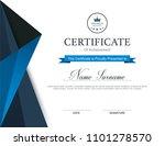 vector certificate template | Shutterstock .eps vector #1101278570