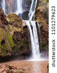 ouzoud waterfall  moroccan...   Shutterstock . vector #1101279623