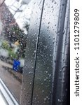 rain drops on surface  | Shutterstock . vector #1101279809