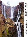ouzoud waterfall  moroccan... | Shutterstock . vector #1101281828