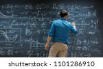 brilliant young mathematician... | Shutterstock . vector #1101286910