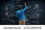 creative entrepreneur writing... | Shutterstock . vector #1101286943