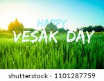 happy vesak day 2018 | Shutterstock . vector #1101287759