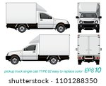 vector eps10   single cab... | Shutterstock .eps vector #1101288350