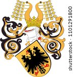 coat of arms of nordhausen is a ... | Shutterstock .eps vector #1101291800