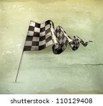 checkered flag  old style vector | Shutterstock .eps vector #110129408