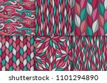 abstract wavy lines seamless... | Shutterstock .eps vector #1101294890