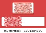 paper greeting card with lace... | Shutterstock .eps vector #1101304190